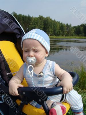 Baby on nature