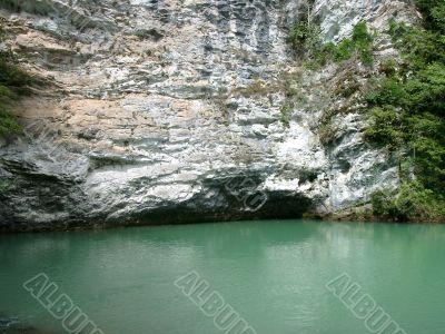 blue lake abkhazia