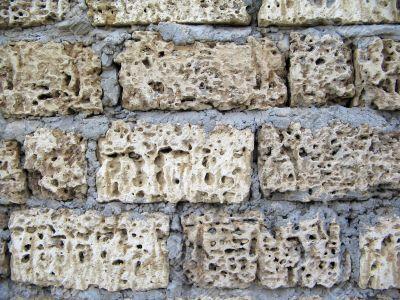 Wall of ill-white bricks. big picture.