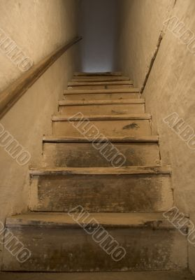 old wooden stairs
