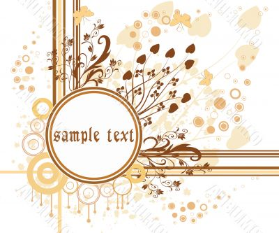 Abstract art floral design vector illustration