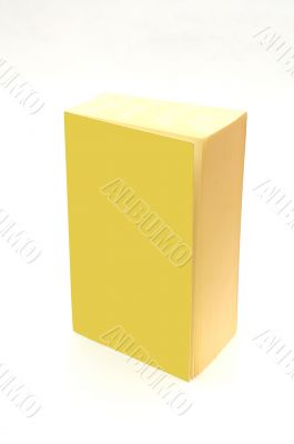 isolated yellow book with blank cover - add your text