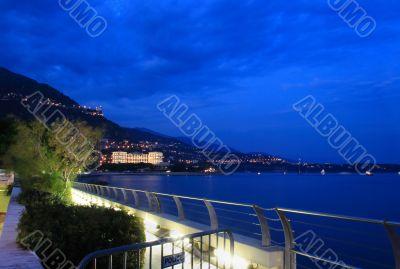 Monte Carlo harbor on night