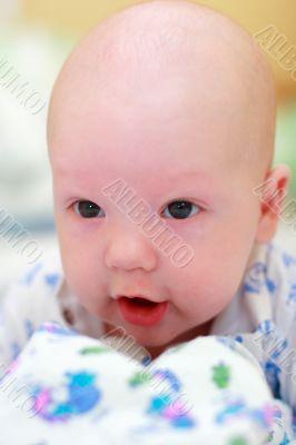 Baby look at camera