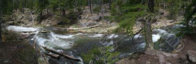 Paulina Falls, blurred, moving water