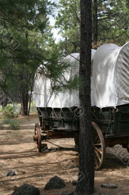 Covered wagon, 19th century homestead