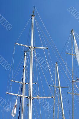 Mast of yachts