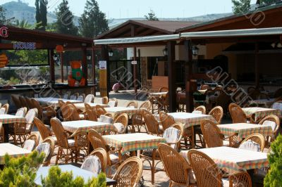Morning open-air cafe