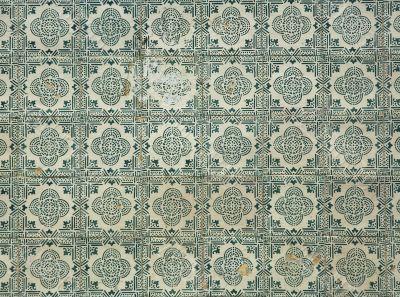background of old ceramic tiles