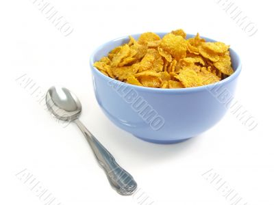 Bowl of cereal with spoon