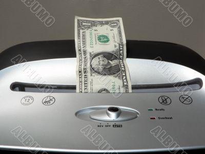 dollar bill shredding