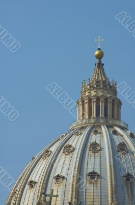 Dome of St. Peter`s Basilica, Rome, Italy