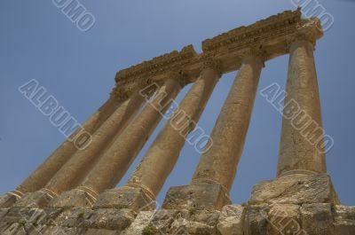 Ancient columns, Baalbeck, Lebanon