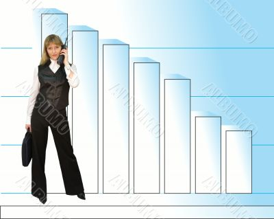 Successful business and woman