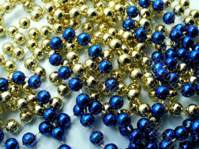 Christmas golden beads