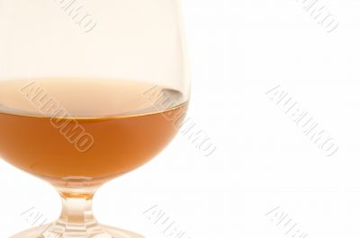 glass of brandy with space for text