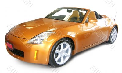 orange luxury car