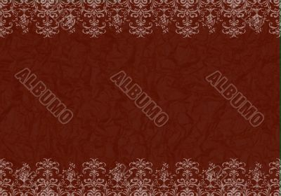 frame with red textured background