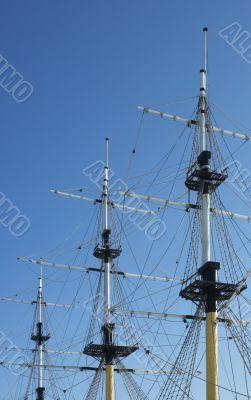 masts of frigate