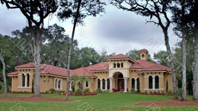 tile roof luxury home