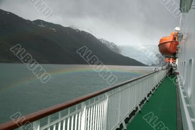 Double rainbow , from promenade deck