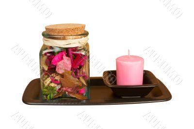 Candle and essence jar