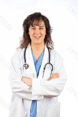 Female doctor in lab coat