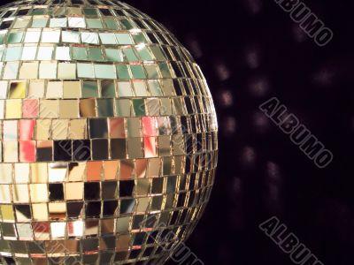 shiny disco ball, detailed