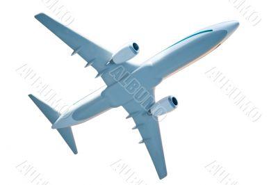 generic plane model on white
