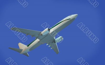 aircraft model on blue background