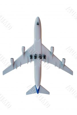 isolated aircraft model