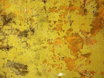 yellow wall - perfect grunge background