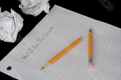 Summer Homework Paper