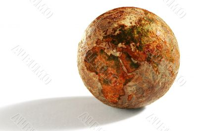 The Globe Of The Dehydrated Earth