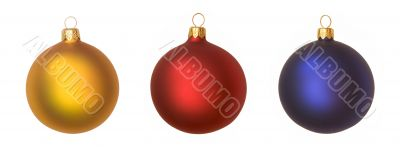 isolated christmas baubles