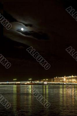 Night bridge, Saint Petersburg, Russia
