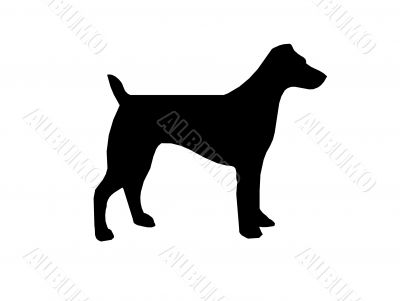Dog silhouette,vector,pet
