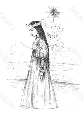 Beautiful princess and southern star