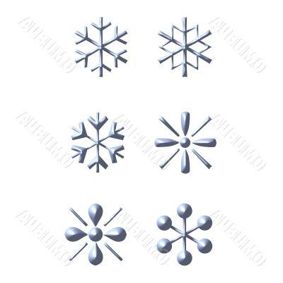 3D Snow Flakes