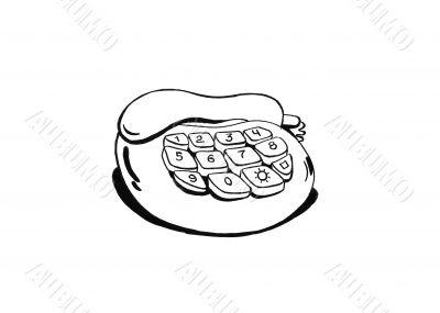 Telephone ink sketch