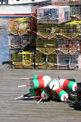 Lobster Traps, bright colors