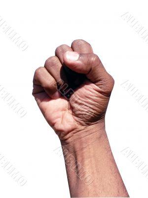 african american hand gesture - fist