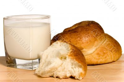 Milk and bun