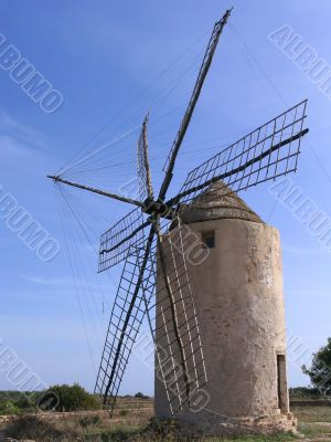 Old windmill in Formentera - Spain