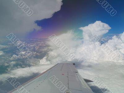 rainbow over wing