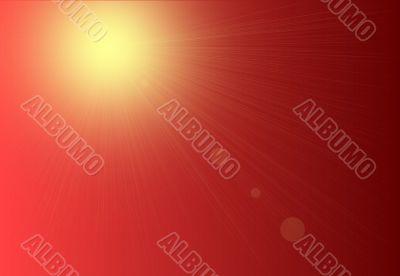 Red Sunshine Background Texture