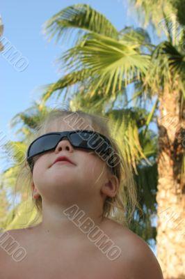 Baby in sun glasses