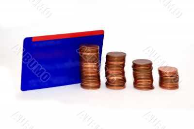 Coins and Credit card