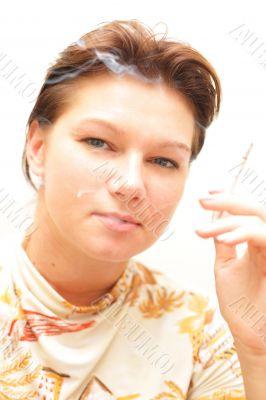 Girl smoking cigarette #4