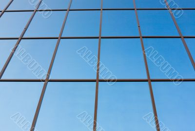 Office building exterior #5. Windows in perspective view